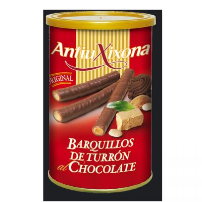 BARQUILLOS RELLENOS DE TURRÓN AL CHOCOLATE