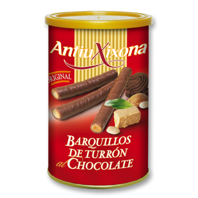 Turrón Wafer Sticks covered with Chocolate