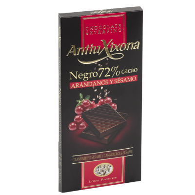 Dark 72% Cocoa Chocolate Cranberries Sesame