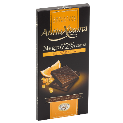 Chocolat Noir 72% Cacao avec Orange