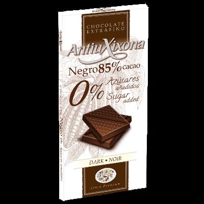 Chocolate Negro 85% Cacao 0% Azúcares añadidos
