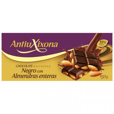 Chocolate Extrafino Negro con Almendras Enteras