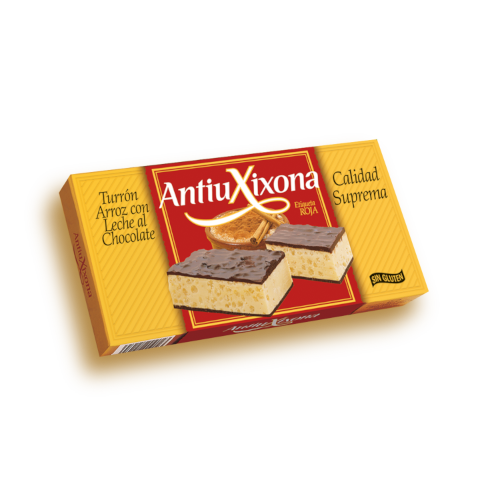 TURRÓN ARROZ CON LECHE AL CHOCOLATE