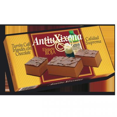 TURRÓN CAFÉ IRLANDÉS CON CHOCOLATE