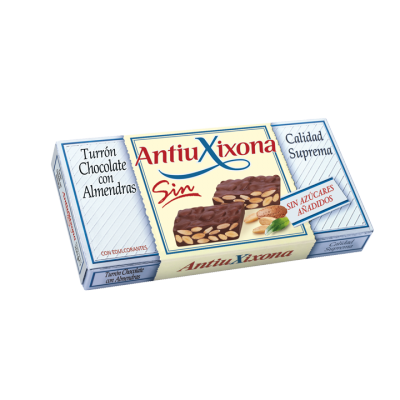 TURRÓN CHOCOLATE CON ALMENDRAS